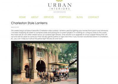 Urban Interiors | Charleston Style Lanterns